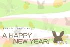 2011年卯(うさぎ)年用年賀状テンプレート5a