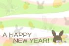 2011年卯(うさぎ)年用年賀状テンプレート5b