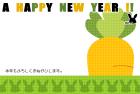 2011年卯(うさぎ)年用年賀状テンプレート6a