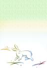 2011年卯(うさぎ)年用年賀状和風テンプレート2