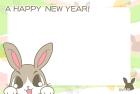2011年卯(うさぎ)年用年賀状フレームテンプレート1e