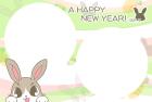 2011年卯(うさぎ)年用年賀状フレームテンプレート2b
