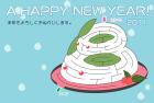 2011年卯(うさぎ)年用年賀状迷路版2テンプレート