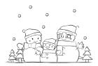 寒中お見舞い用イラストパーツ5