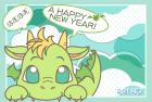 2012年辰(竜)年年賀状テンプレート2b