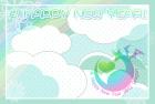 2012年辰(竜)年年賀状テンプレート3b