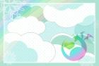 2012年辰(竜)年年賀状テンプレート3c