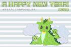 2012年辰(竜)年年賀状テンプレート切絵風a