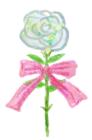 手描きタッチなゾ白バラ