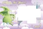 2012年辰(竜)年年賀状テンプレートファンタジー風フレーム1syu