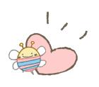 蜂とハート