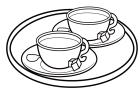 白黒お茶セット