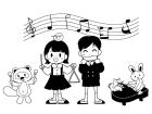 白黒生活・学校行事合奏