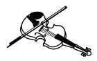 白黒バイオリン1