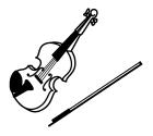 白黒バイオリン2