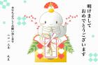 2013年巳(蛇)年年賀状イラストテンプレートフリー素材1