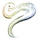 2013年巳(蛇)年年賀状イラスト1フリー素材