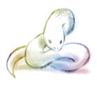 2013年巳(蛇)年年賀状イラスト2フリー素材