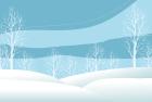 寒中お見舞い用テンプレート素材雪景色
