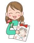 母の日・お母さん・似顔絵・カーネーション