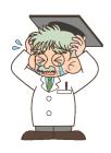 博士・ポーズ・泣く