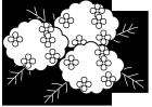 紫陽花・モノクロ