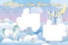 午年年賀状テンプレートファンタジー6