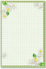 お花・テンプレート・緑