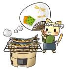 秋刀魚の炭火焼き2