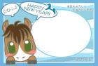 馬・午・2014年・年賀状・テンプレート・フレーム1