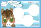 馬・午・2014年・年賀状・テンプレート・フレーム3