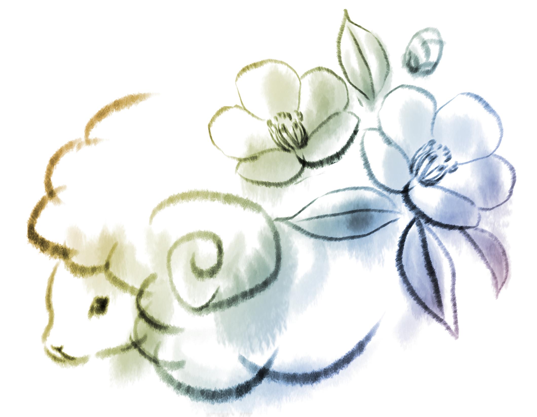 Poi Poi Background : 羊 年賀状 2015 : 年賀状