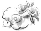 羊・未・2015年・年賀状・イラスト・和2