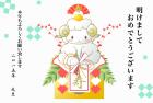 羊・未・2015年・年賀状・テンプレート・鏡餅1