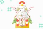 羊・未・2015年・年賀状・テンプレート・鏡餅5