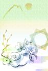 羊・未・2015年・年賀状・テンプレート・和7