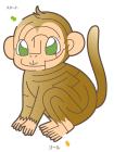 猿・申・2016年・年賀状・イラスト・迷路