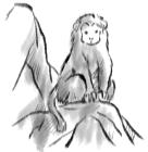 猿・申・2016年・年賀状・イラスト・和2