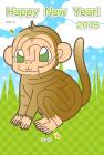猿・申・2016年・年賀状・テンプレート・迷路2