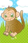 猿・申・2016年・年賀状・テンプレート・迷路3