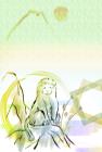 猿・申・2016年・年賀状・テンプレート・和7