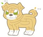 犬・戌・2018年・年賀状・イラスト・迷路