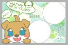 犬・戌・2018年・年賀状・テンプレート・フレーム2