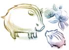 猪・亥・2019年・年賀状・イラスト・和3
