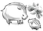 猪・亥・2019年・年賀状・イラスト・和4