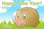 猪・亥・2019年・年賀状・テンプレート・迷路1