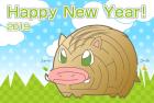 猪・亥・2019年・年賀状・テンプレート・迷路2