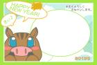 猪・亥・2019年・年賀状・テンプレート・フレーム1
