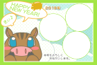 猪・亥・2019年・年賀状・テンプレート・フレーム3
