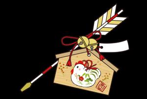 酉年年賀状イラスト素材